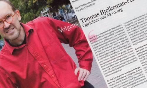 Vrij Netherlands article of Akvo