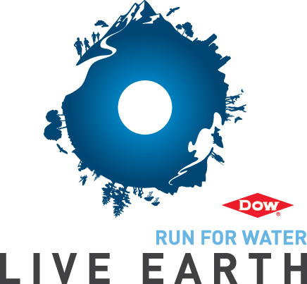 Dow Live Earth Run for Water logo